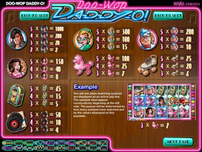 Doo-wop Daddy-O Slot Review